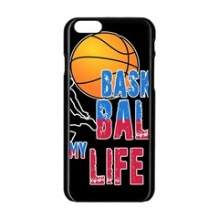 Basketball is my life Apple iPhone 6/6S Black Enamel Case