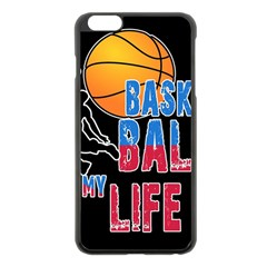 Basketball is my life Apple iPhone 6 Plus/6S Plus Black Enamel Case