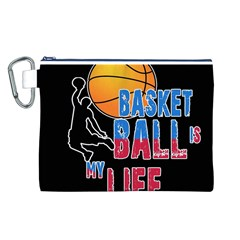 Basketball is my life Canvas Cosmetic Bag (L)