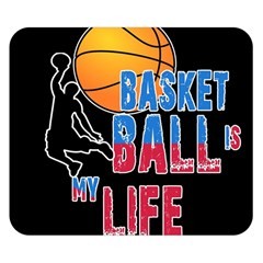 Basketball is my life Double Sided Flano Blanket (Small)