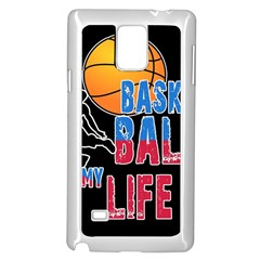 Basketball is my life Samsung Galaxy Note 4 Case (White)