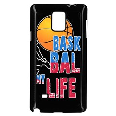 Basketball is my life Samsung Galaxy Note 4 Case (Black)