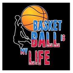 Basketball is my life Large Satin Scarf (Square)