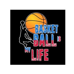 Basketball is my life Small Satin Scarf (Square)