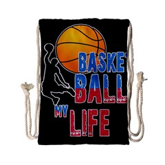 Basketball is my life Drawstring Bag (Small)