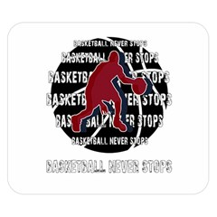 Basketball never stops Double Sided Flano Blanket (Small)