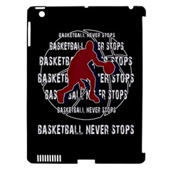 Basketball never stops Apple iPad 3/4 Hardshell Case (Compatible with Smart Cover)