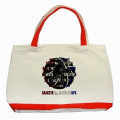 Basketball Never Stops Classic Tote Bag (red)