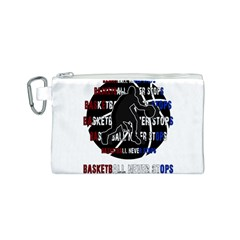 Basketball never stops Canvas Cosmetic Bag (S)