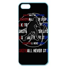 Basketball never stops Apple Seamless iPhone 5 Case (Color)