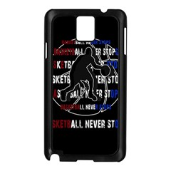 Basketball never stops Samsung Galaxy Note 3 N9005 Case (Black)