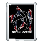 Basketball never stops Apple iPad 3/4 Case (White) Front