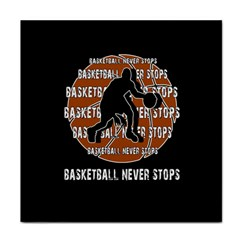 Basketball never stops Face Towel