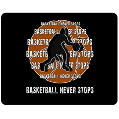 Basketball never stops Double Sided Fleece Blanket (Medium)