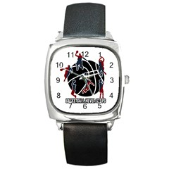 Basketball never stops Square Metal Watch
