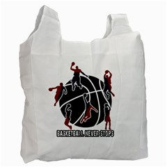 Basketball never stops Recycle Bag (One Side)