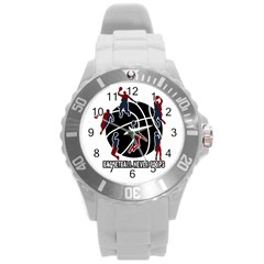 Basketball never stops Round Plastic Sport Watch (L)
