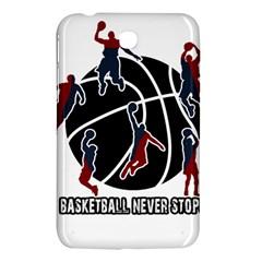 Basketball never stops Samsung Galaxy Tab 3 (7 ) P3200 Hardshell Case