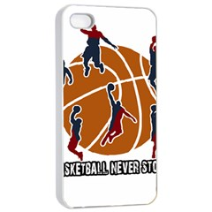 Basketball never stops Apple iPhone 4/4s Seamless Case (White)