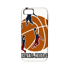 Basketball never stops Apple iPhone 5 Classic Hardshell Case (PC+Silicone)