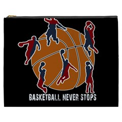 Basketball never stops Cosmetic Bag (XXXL)