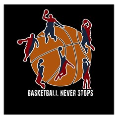 Basketball never stops Large Satin Scarf (Square)
