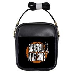 Basketball never stops Girls Sling Bags