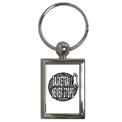Basketball never stops Key Chains (Rectangle)