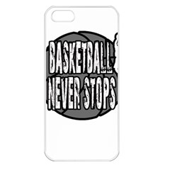 Basketball never stops Apple iPhone 5 Seamless Case (White)
