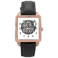 Basketball never stops Rose Gold Leather Watch