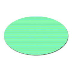 Decorative lines pattern Oval Magnet
