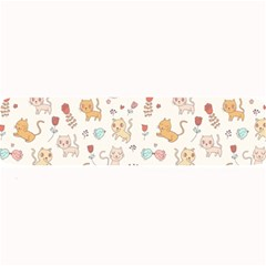 Kittens and birds and floral  patterns Large Bar Mats