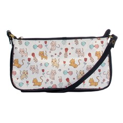 Kittens and birds and floral  patterns Shoulder Clutch Bags