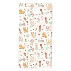Kittens and birds and floral  patterns Galaxy Note 4 Back Case