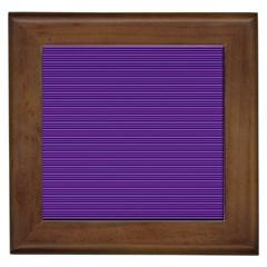 Decorative lines pattern Framed Tiles