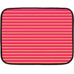 Decorative lines pattern Double Sided Fleece Blanket (Mini)