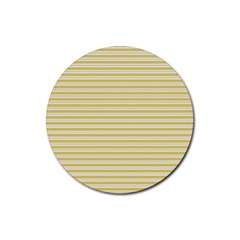 Decorative lines pattern Rubber Round Coaster (4 pack)