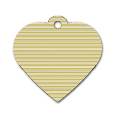 Decorative Lines Pattern Dog Tag Heart (one Side)