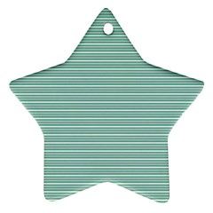 Decorative line pattern Star Ornament (Two Sides)