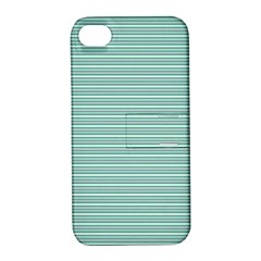Decorative Line Pattern Apple Iphone 4/4s Hardshell Case With Stand