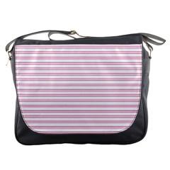 Decorative line pattern Messenger Bags