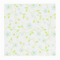 Floral Pattern Medium Glasses Cloth (2 Side)