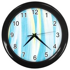 Artistic pattern Wall Clocks (Black)