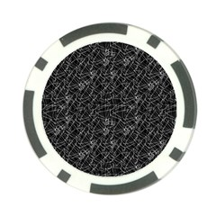 Linear Abstract Black And White Poker Chip Card Guard