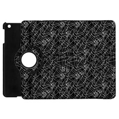 Linear Abstract Black And White Apple iPad Mini Flip 360 Case