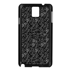 Linear Abstract Black And White Samsung Galaxy Note 3 N9005 Case (Black)