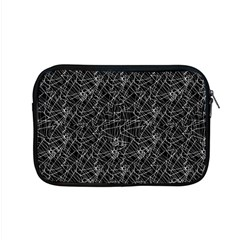 Linear Abstract Black And White Apple Macbook Pro 15  Zipper Case