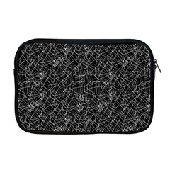 Linear Abstract Black And White Apple Macbook Pro 17  Zipper Case