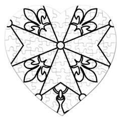 Huguenot cross Jigsaw Puzzle (Heart)