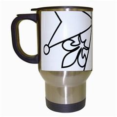 Huguenot cross Travel Mugs (White)